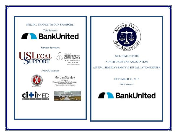 North Dade Bar Holiday Sponsors